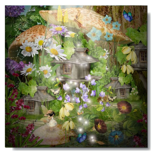 """""""Fairy Garden"""" by cb-hula ❤ liked on Polyvore featuring art"""