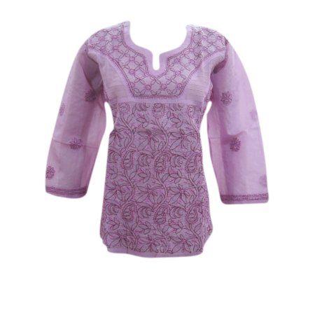 Mogul Womens Blouse Purple Embroidered Cotton Tunic Top Pinterest