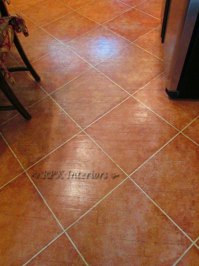 Poor Man S Terracotta Tile No More Painted Concrete Floors