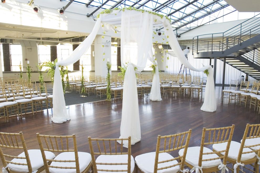Beautiful Outdoor Wedding Ceremony At Tribeca Rooftop: Pin By LVREvents On NYC Area Venues