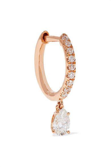 Anita Ko Number 18-karat Rose Gold Diamond Earring ZREUz8iLYg