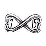 Idea for a wedding ring tattoo. Infinity symbol with