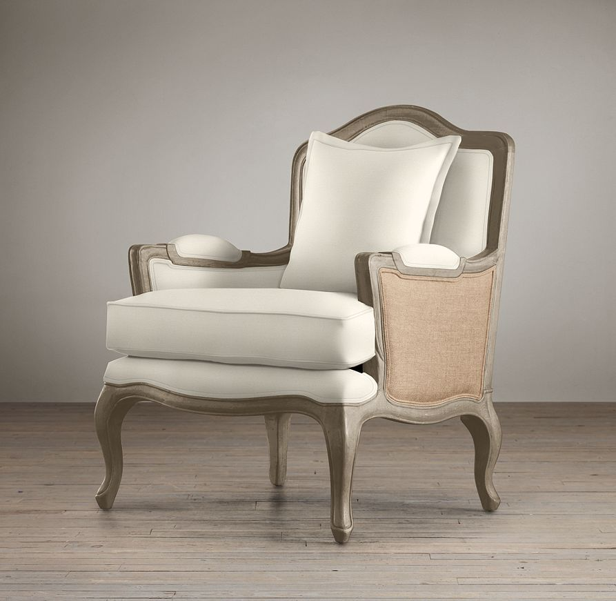 marseilles chair with burlap chairs restoration hardware