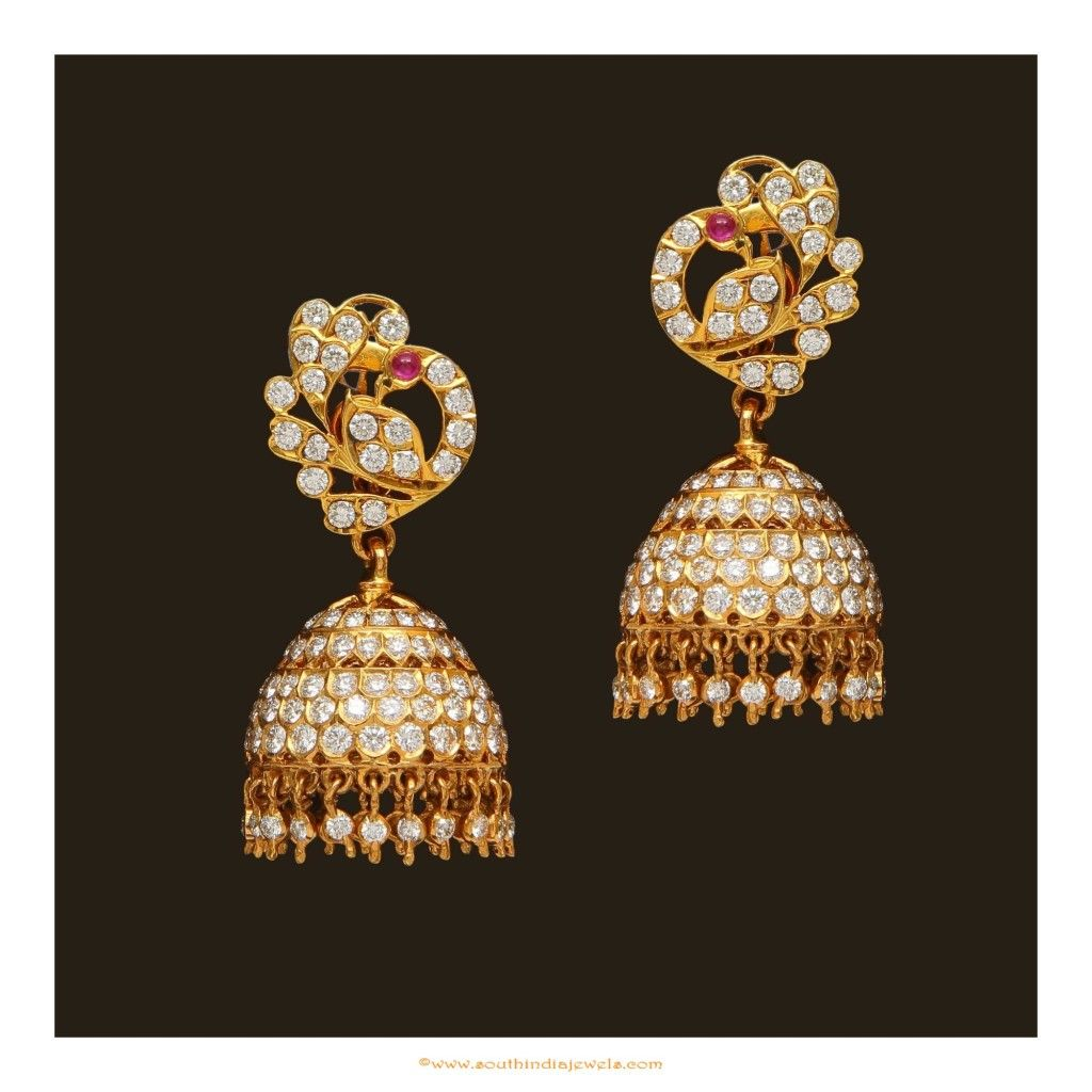 And contemporary gold jhumkas collection by khazana jewellery - Collections Of Indian Diamond Jewellery Designs