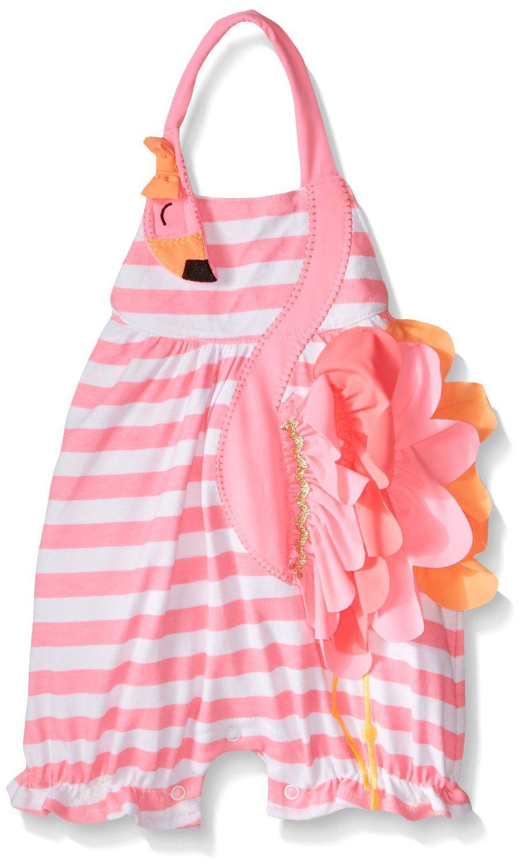 68e0310b301b Amazon.com  Mud Pie Baby Girls  Flamingo Bubble  Clothing