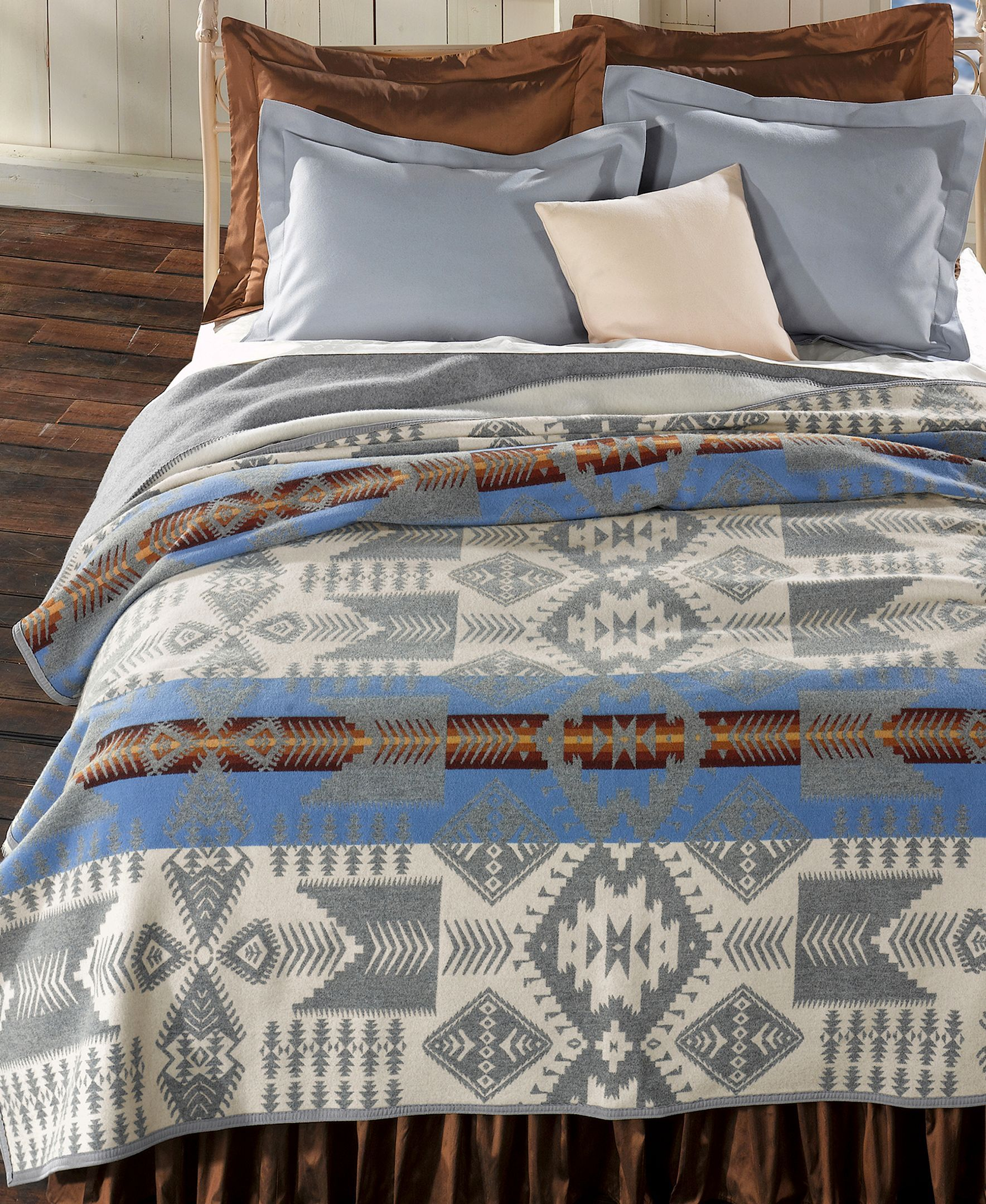 Pendleton Silver Bark Heritage Wool Queen Blanket Reviews Blankets Throws Bed Bath Macy S Pendleton Blanket Queen Blanket Pendelton Blankets