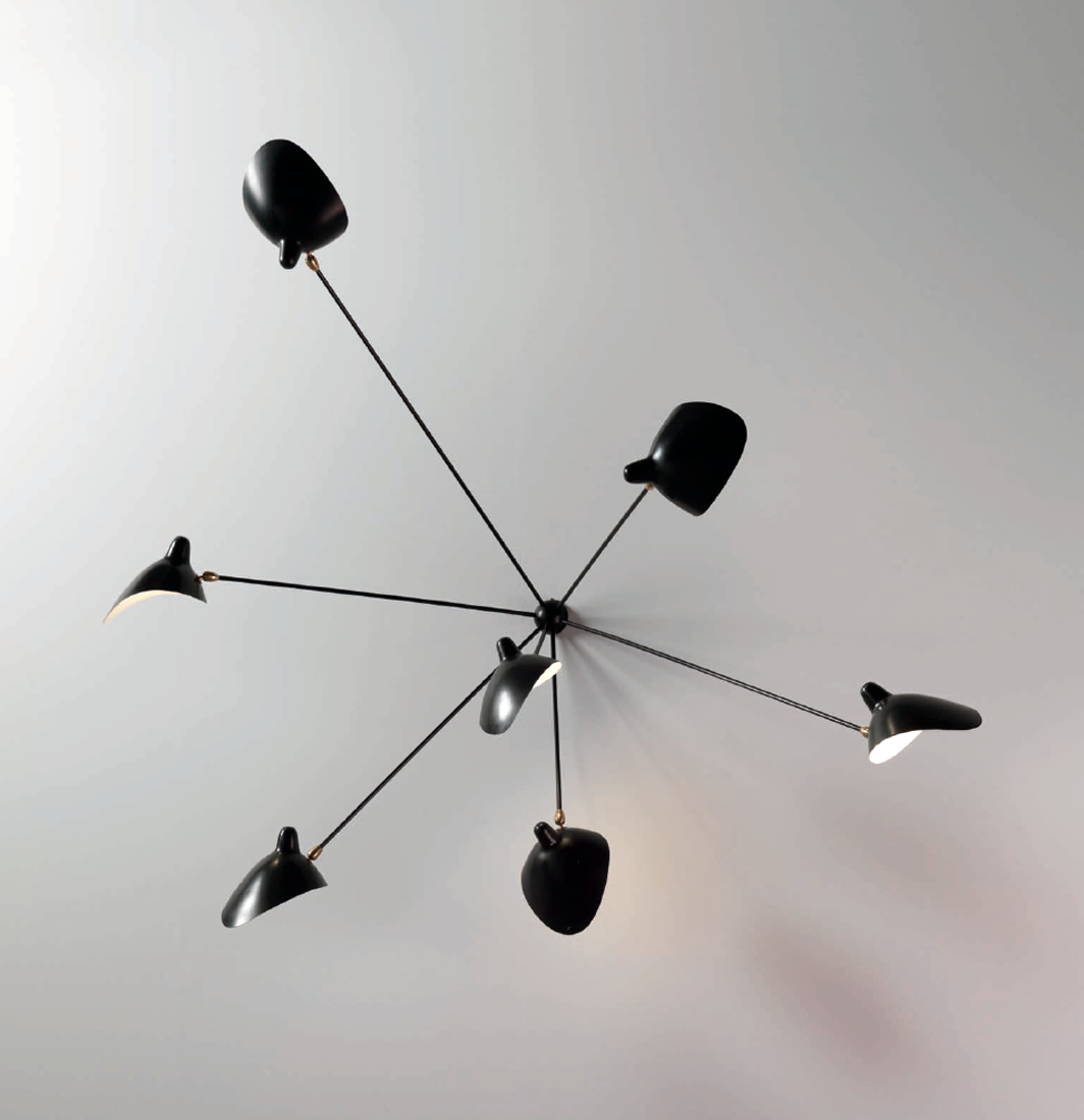 7 armet lofts lampe serge mouille 1953 mid century modern seven arm wall light manufactured by atelier serge mouille and editioned by steph simon france designed by serge mouille arubaitofo Choice Image