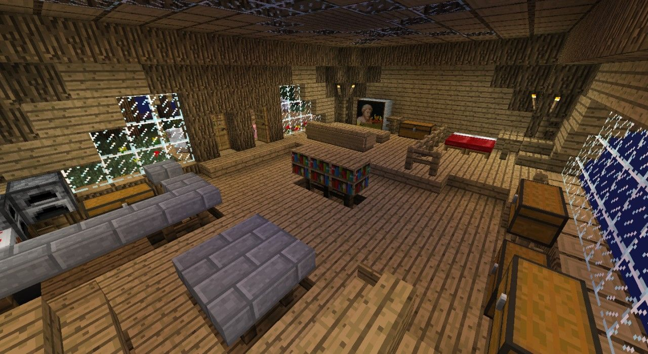 Minecraft Houses Inside Free PC XBox Pocket Edition Mobile Seeds And Ideas