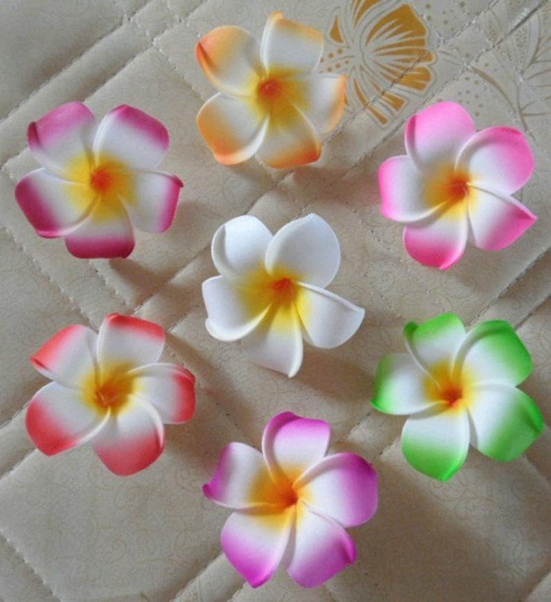 Beach Wedding Flower Plumeria Hawaiian Flower Artificial Etsy In 2020 Foam Flowers Flower Crafts Plumeria Flowers