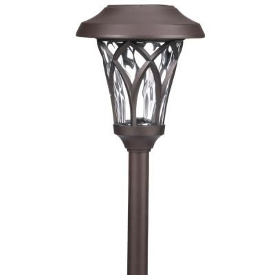Hampton Bay Pathway Lights Best Hampton Bay Solar Bronze Outdoor Integrated Led Landscape Fan Cage 2018