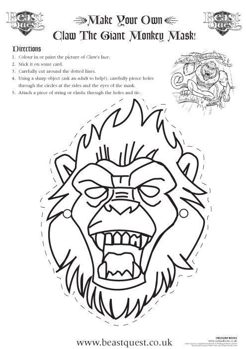 Beast Quest Mask Activity Sheets Beast Activities