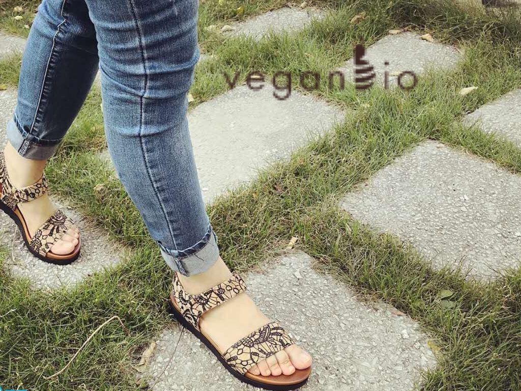 Vegan shoes. Women's vegan sandals