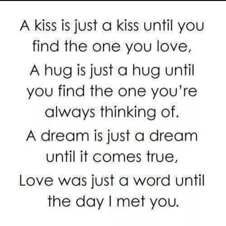 A kiss is just a kiss until... | Love poems for him, Cute ...