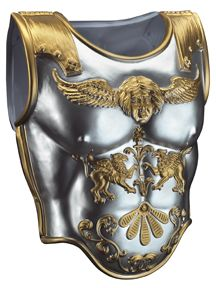 Roman Armour - Silver with gold detailing front chest armour and back too. The stiff heavy plastic is lightweight but rather sturdy though it wonu0027t hold ...  sc 1 st  Pinterest & Two-tone Roman Armour Chestplate | Julius caesar Roman and Costumes