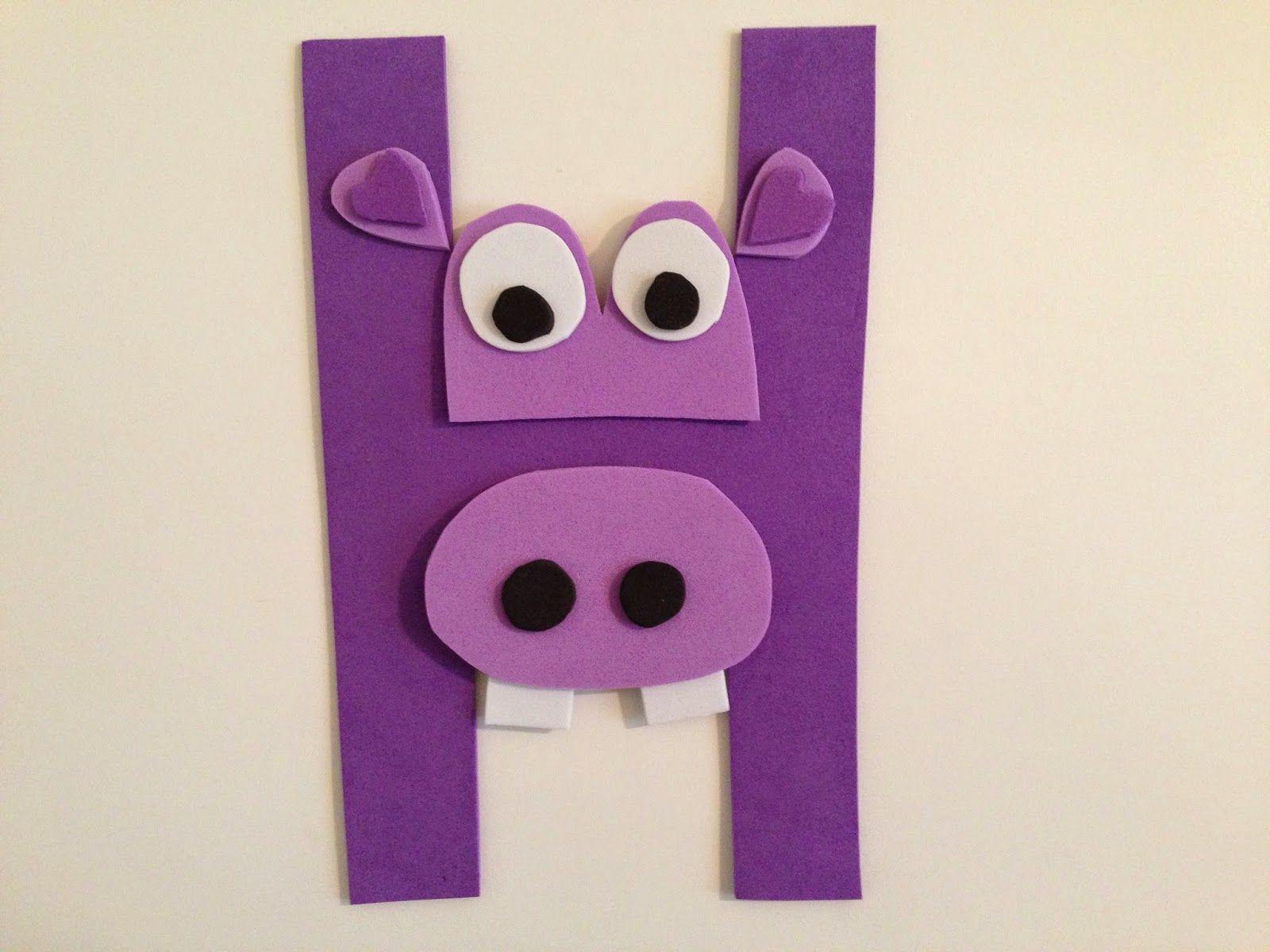 hippo craft for teach letter h jpg 1600 1200 preschool craft