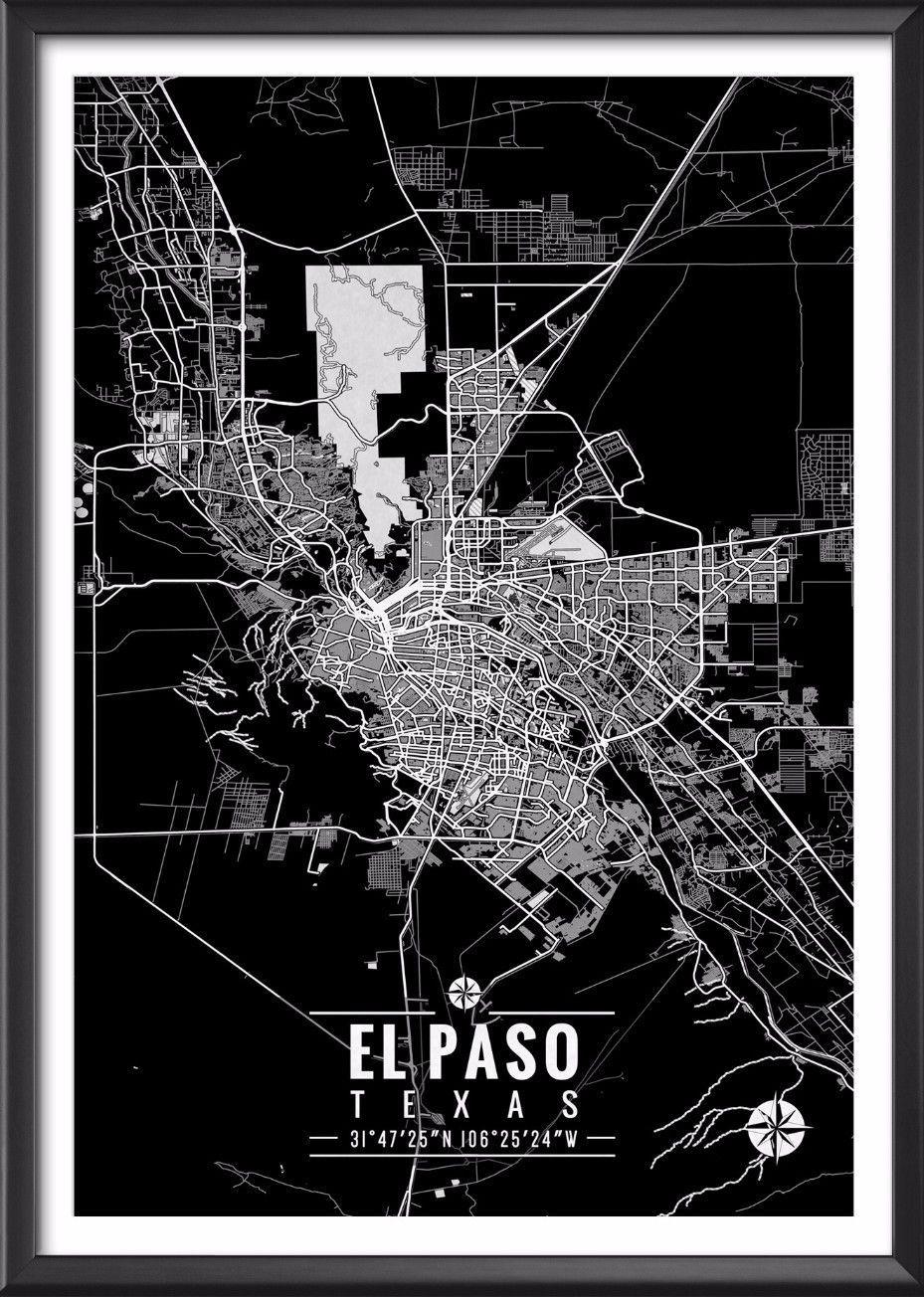 El Paso Texas Map With Coordinates In 2019