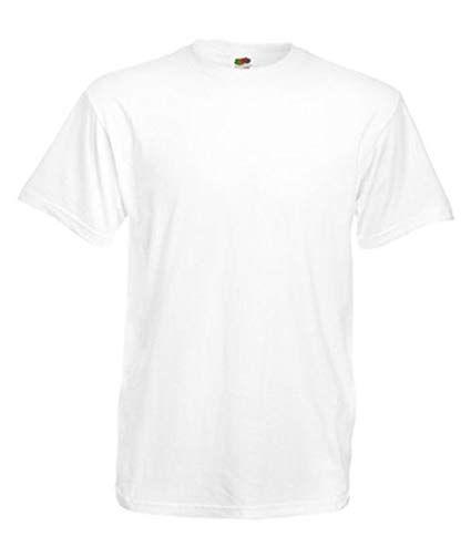 ecb0674a0ebb Price £1.72 Fruit of the Loom Mens Plain Heavy Cotton T-Shirt ...