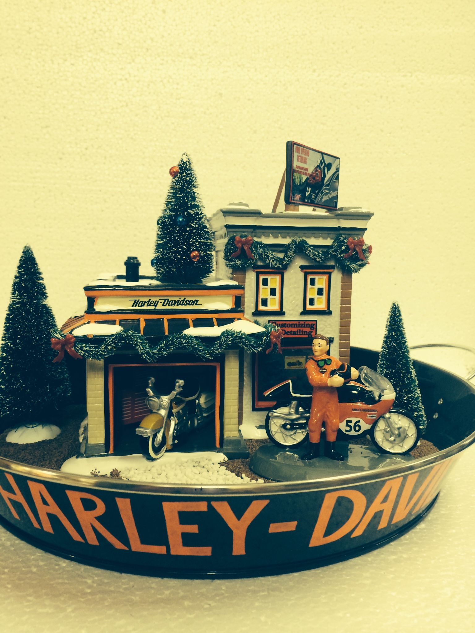 Another Great Way To Show Off Your D56 Harley Davidson Village