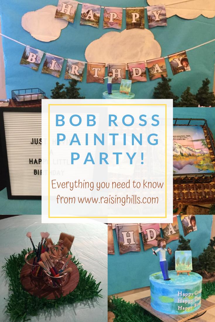 A Happy Little Birthday Party Bob ross birthday, 80th