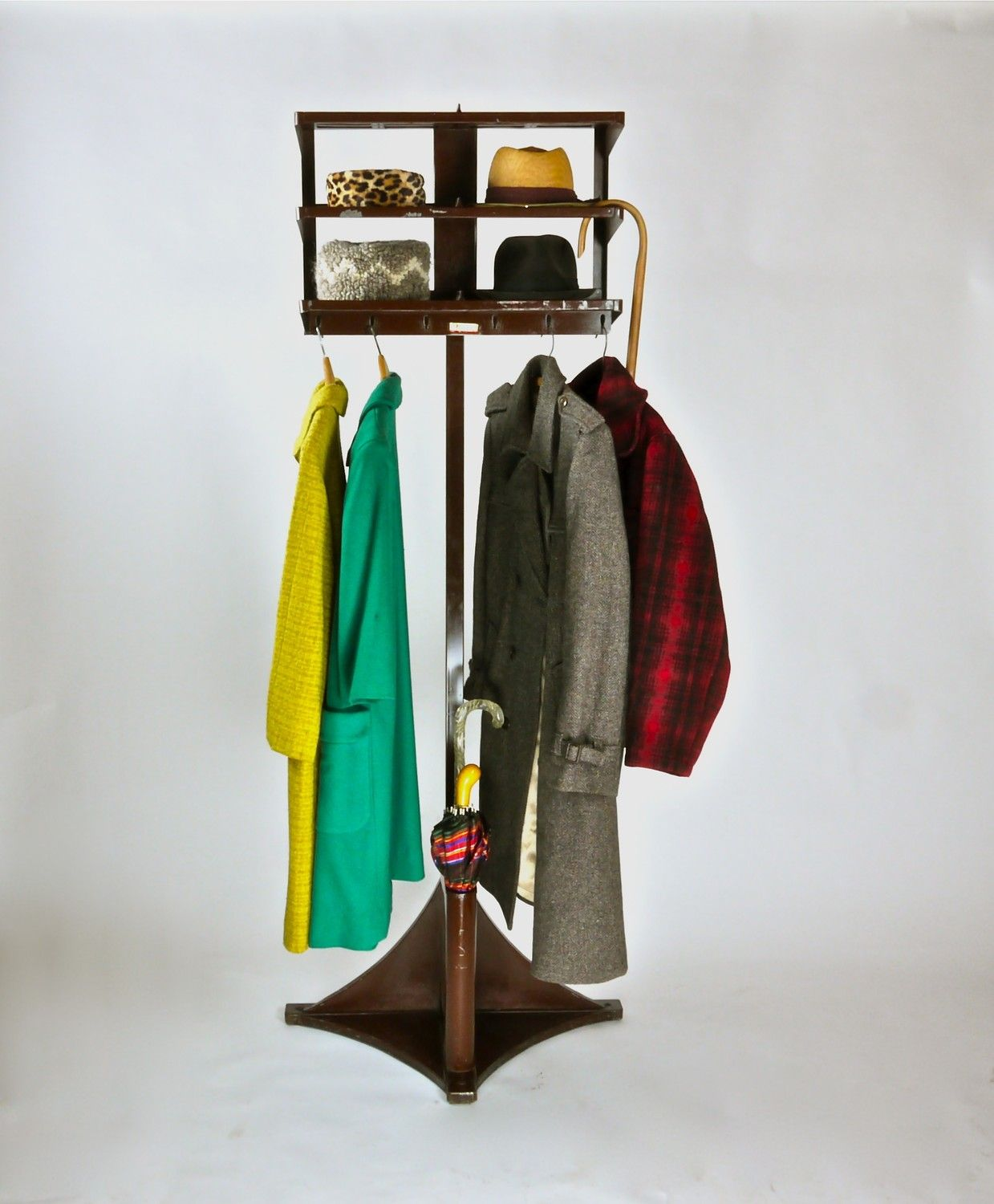 office coat tree. Antique Industrial Tubular Steel Coat Rack Office Valet Umbrella And Hat Holder Tree N