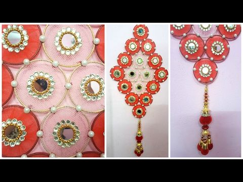 How To Make Wall Hanging With Bangles And Cloth I Diy