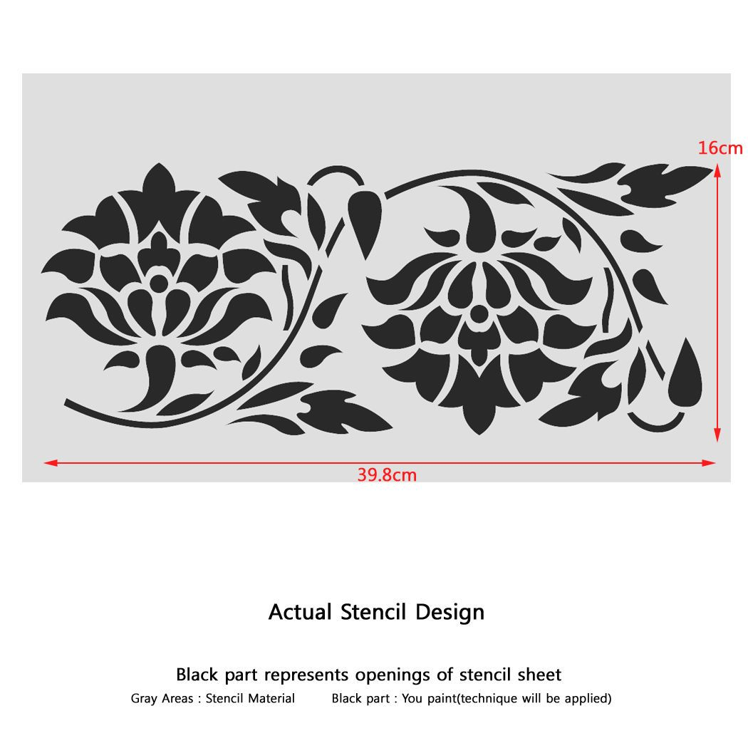 Details About Wall Border Stencils Pattern 011 Reusable Template For Diy Wall Decor Stencil Pattern Stencils Wall Stencil Patterns