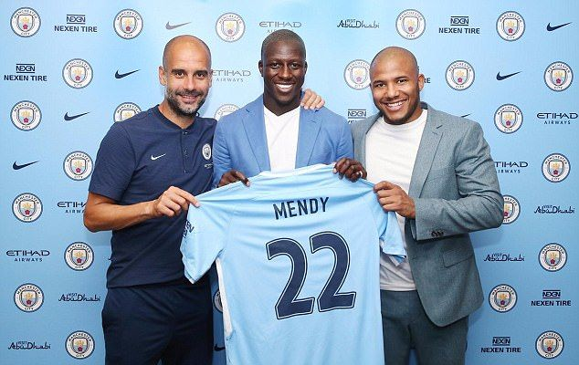 new product 9436f a3b2d Manchester City announce £52m capture of Benjamin Mendy from ...
