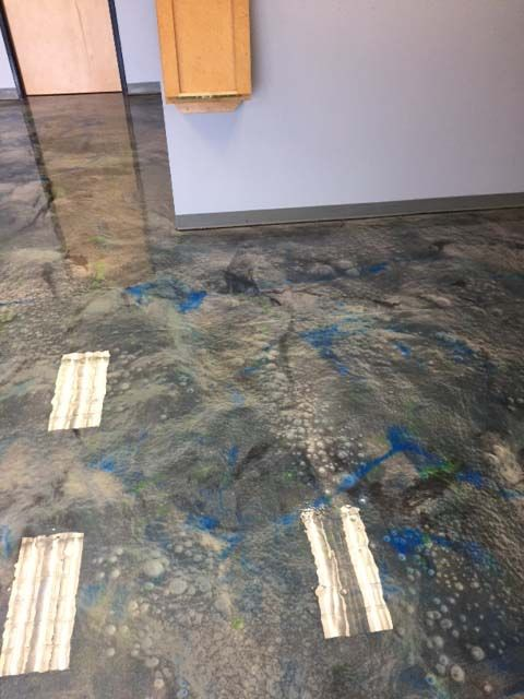 Blue And Grey Lava Flow Metallic Epoxy 2 Lava Flow