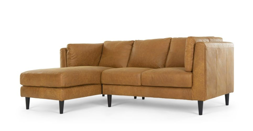 1499 Lindon Left Hand Facing Chaise End Sofa Outback Tan Leather Made Com Leather Chaise Sofa Leather Chaise Sectional Leather Corner Sofa