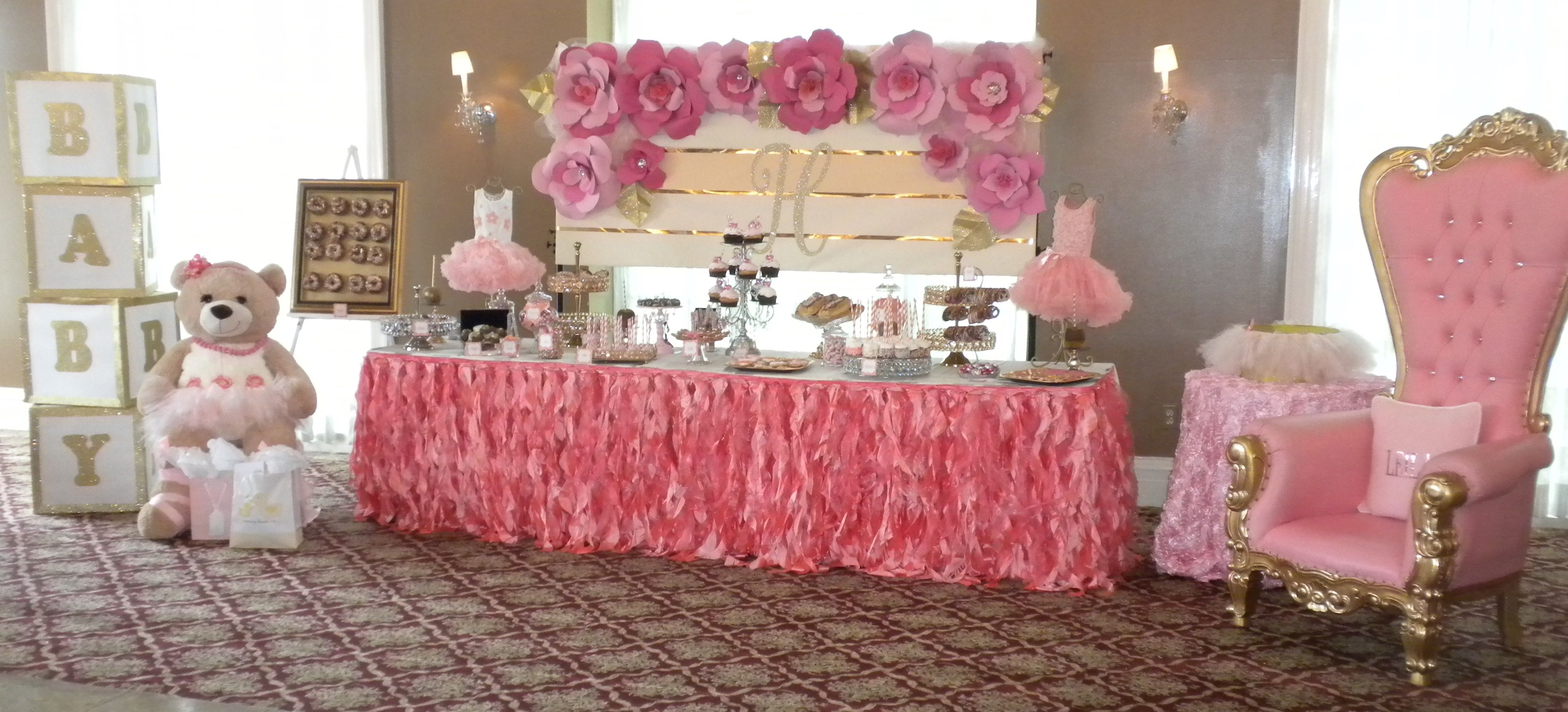 TuTu cute baby shower dessert table centerpieces table decor favors ...