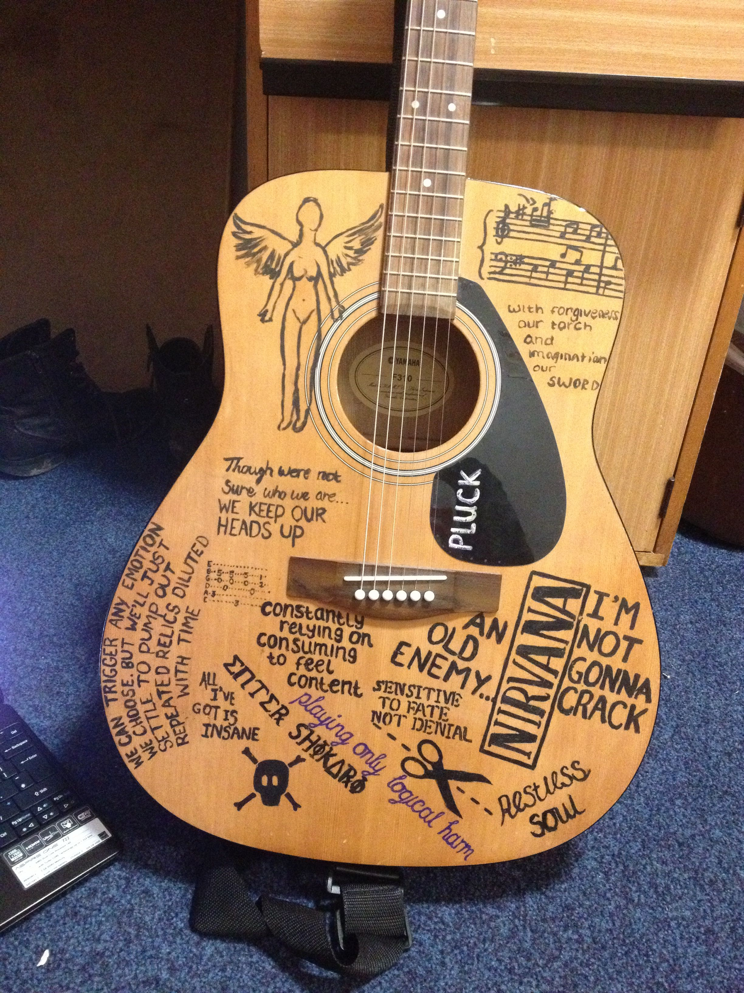 My guitar art nirvana lyrics nirvana pinterest lyrics and beautiful - Nirvana dive lyrics ...