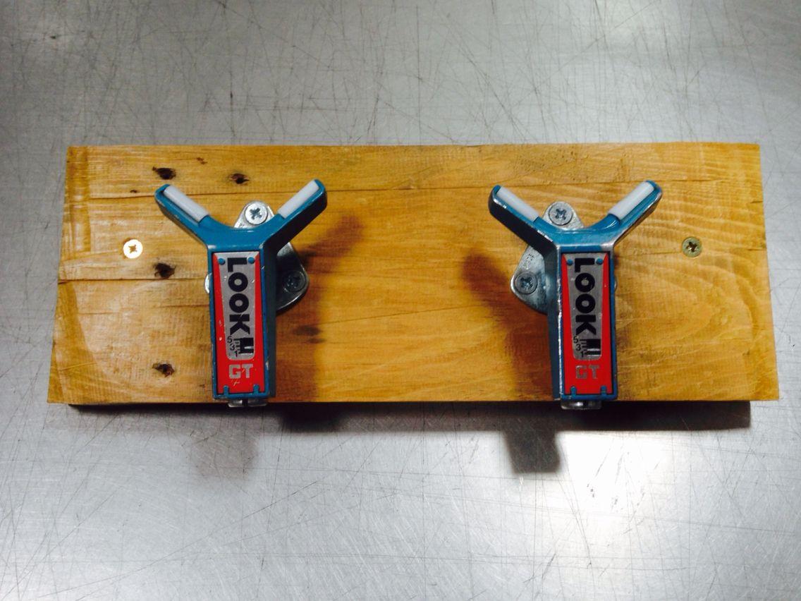 Coathooks Made From Upcycled Repurposed Ski Bindings.