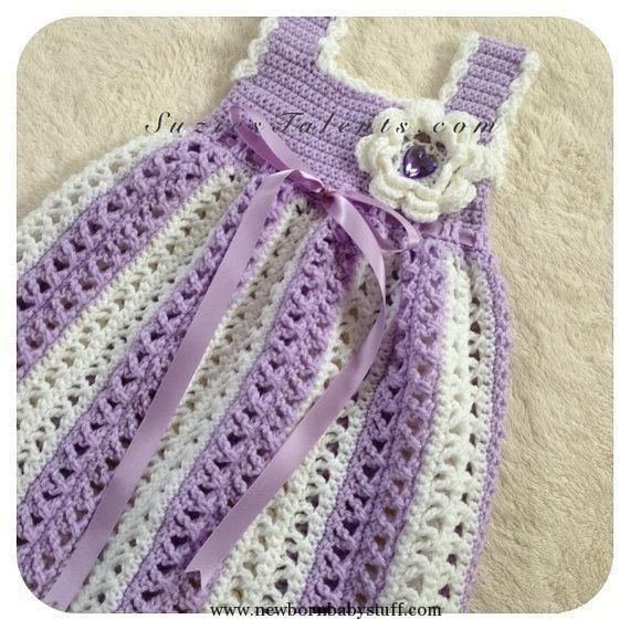 Crochet Baby Dress Crochet Baby Dress Crochet Baby Spring ... by ...