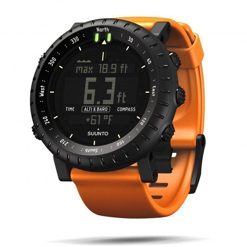 Suunto core All Black, another strap Black orange watch