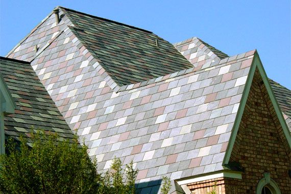 Roofing A Guide To The Options Synthetic Slate Roofing Best Solar Panels Solar Panels