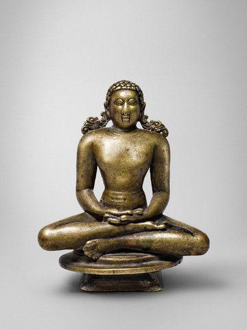 Jina Rishabhanatha South India, Karnataka Ganga period, c. 900 Copper alloy  Height: 5 ¾ in. (14.6 cm) Prove… | Indian sculpture, Buddhist art, Indian  art