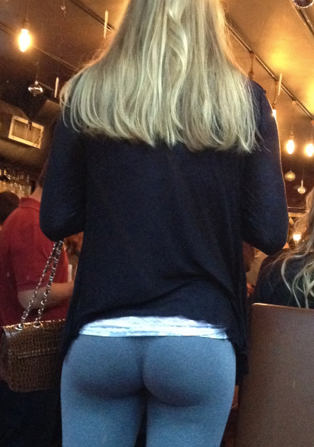 Standing In Line At The Store Nasty Girl Yoga Pants