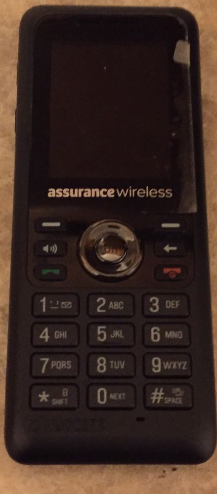 Kyocera S1360 Assurance Wireless Black Cell Phone Good