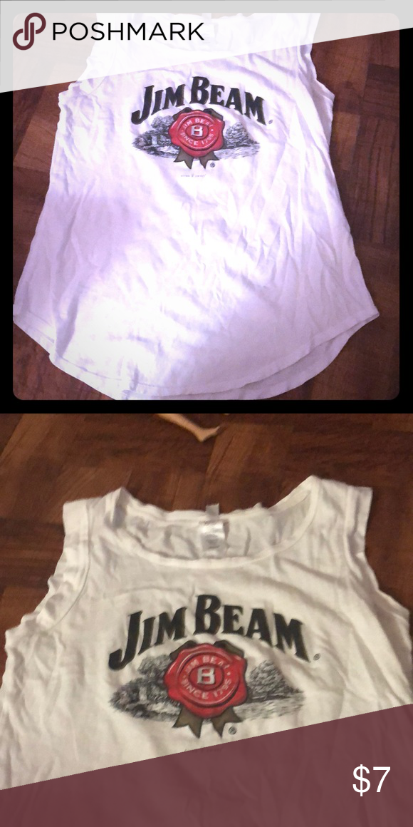 Jim beam top White sleeveless top. Jim beam logo. Like new