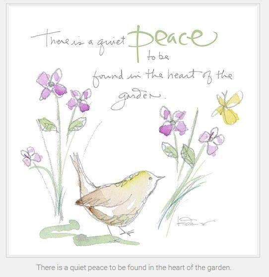 Quiet Peace In The Garden Garden Quotes Signs Garden Quotes Garden Works