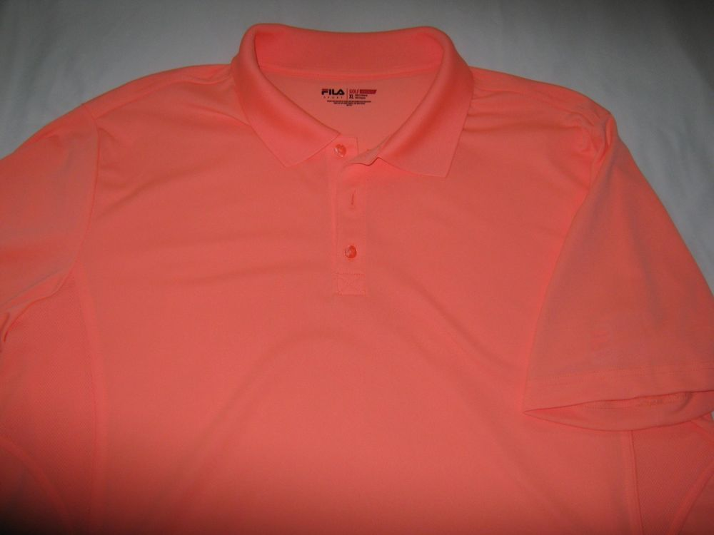 4444551faa30 FILA GOLF SHIRT - PINK - MEN S ATHLETIC FIT - XL  fashion  clothing  shoes   accessories  mensclothing  shirts (ebay link)