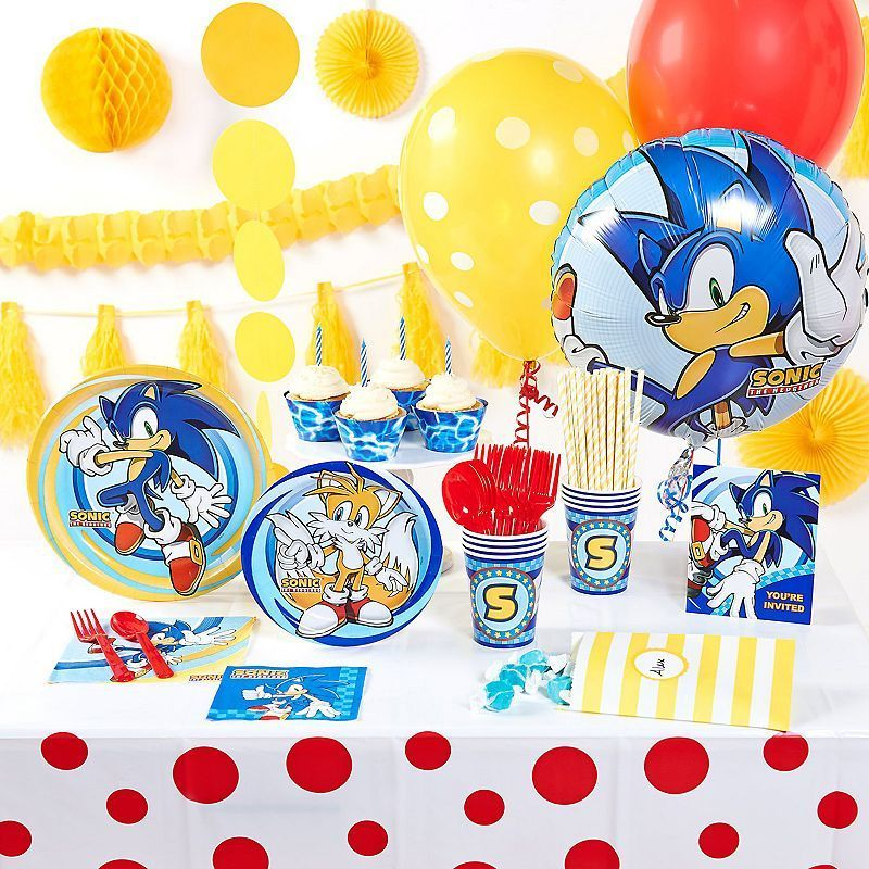Sonic the Hedgehog Deluxe Party Supplies for 16, Other