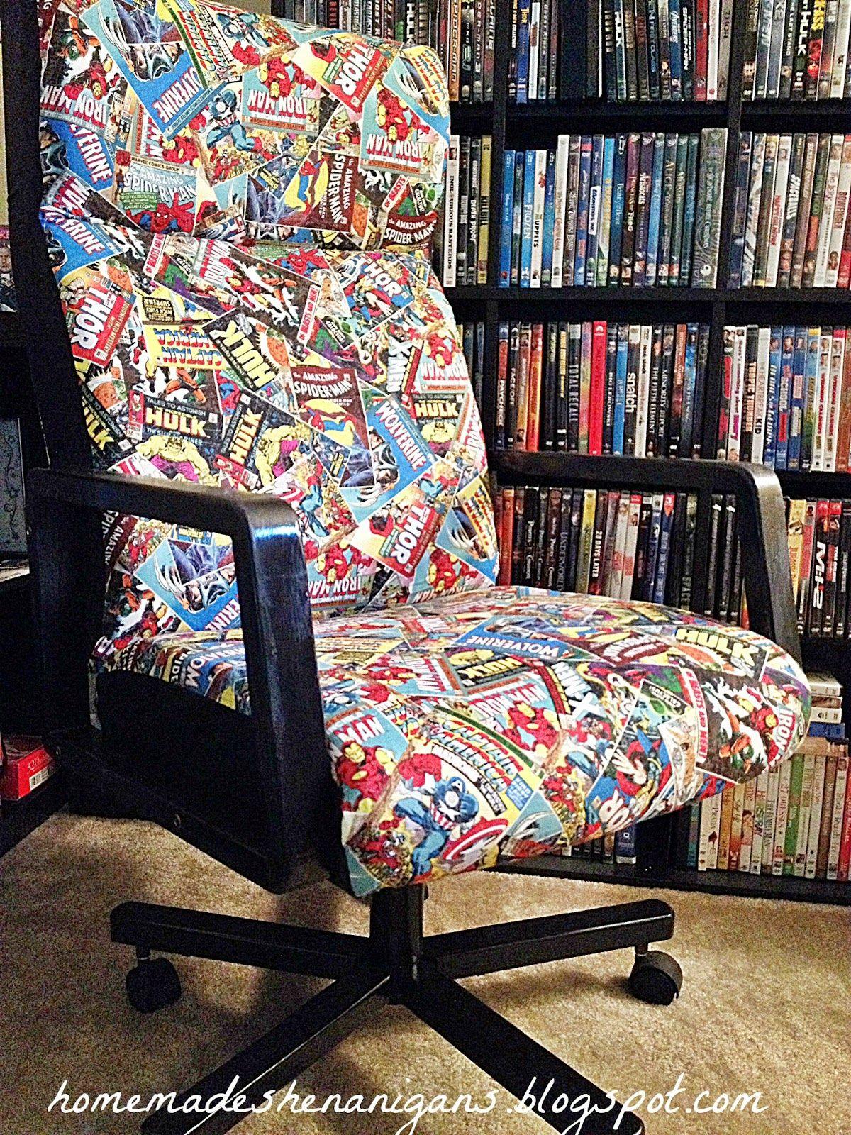 Homemade Shenanigans Superhero Desk Chair Furniture