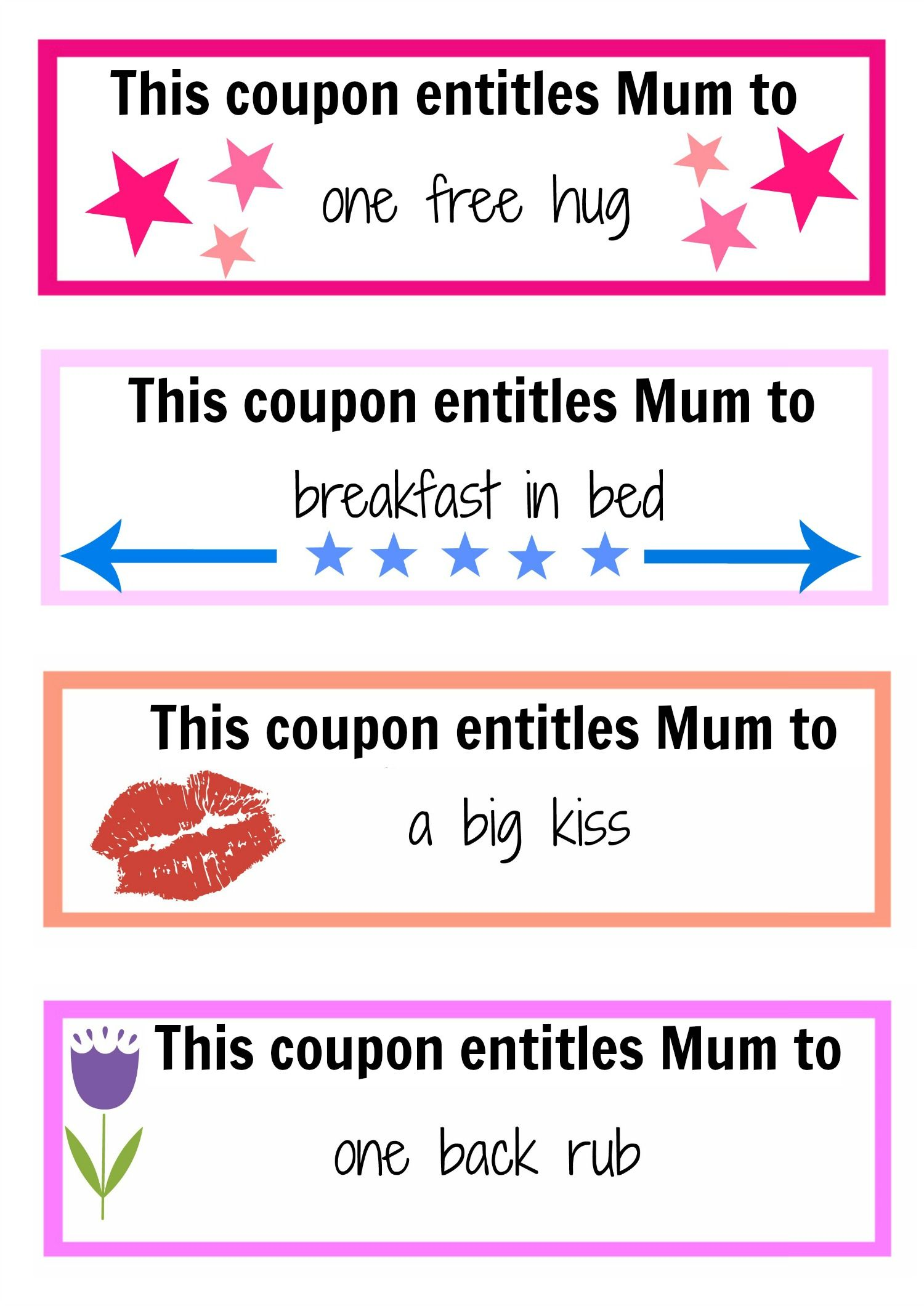 Mother's Day coupon booklet | Best Free printable ideas