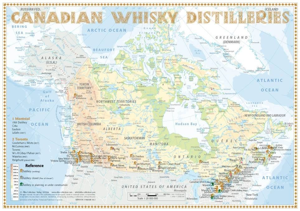 Canadian Whisky Distilleries 1st Edition 2016 Available As A