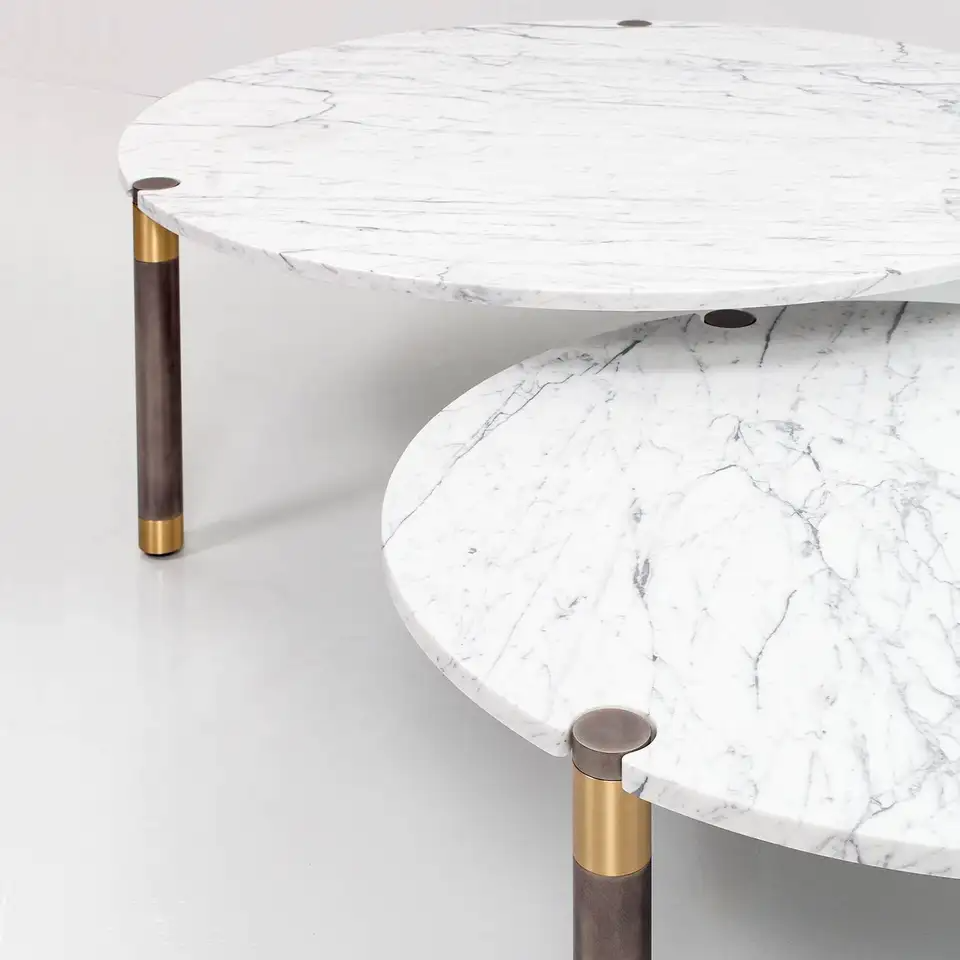 Nova Round Marble Coffee Table Set Of Two By Avram Rusu Studio Marble Round Coffee Table Coffee Table Marble Coffee Table [ 960 x 960 Pixel ]
