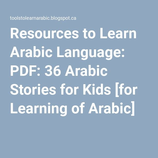 Pdf 36 Arabic Stories For Kids For Learning Of Arabic