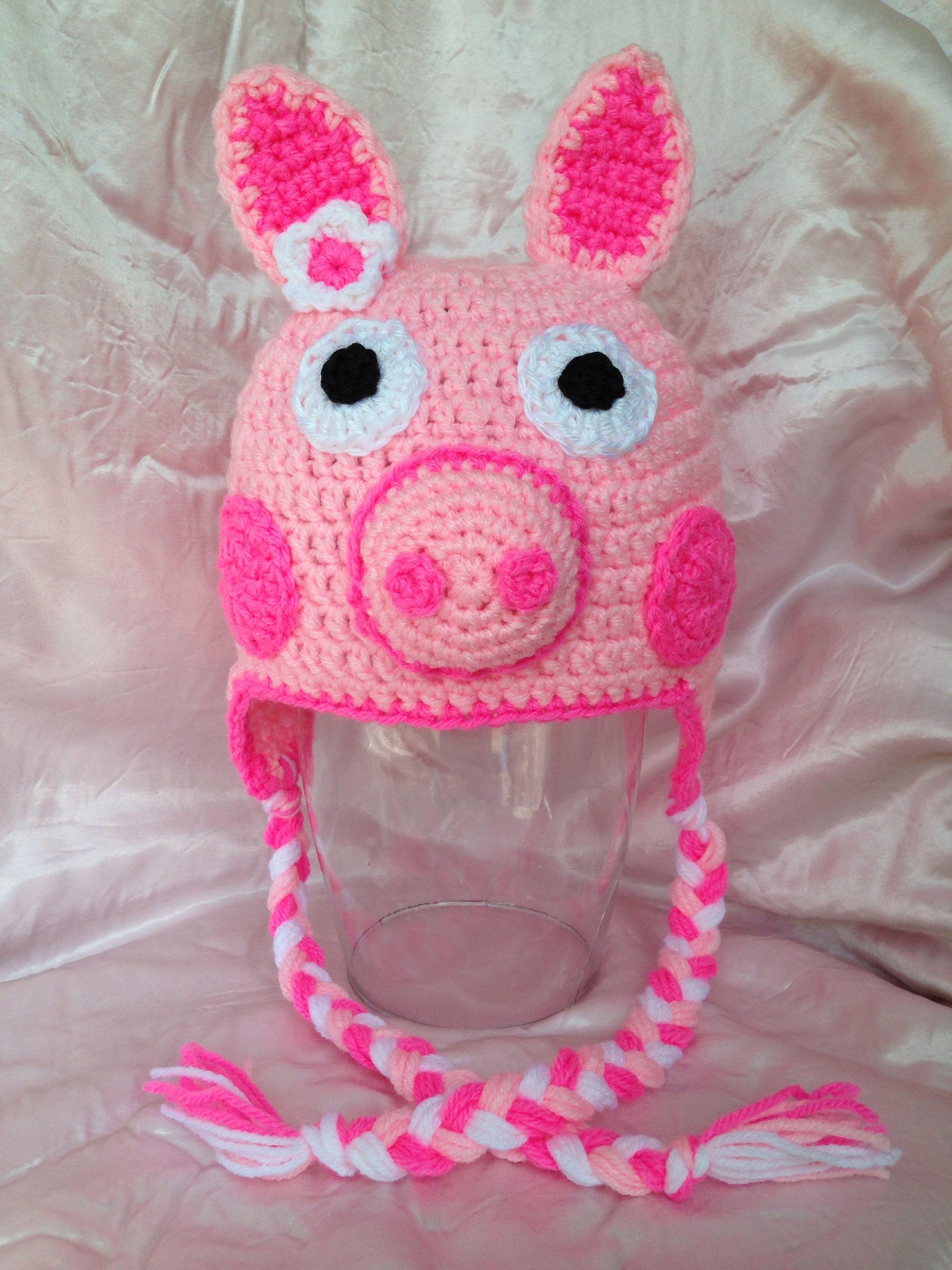 Peppa pig hat $30 Order at www.facebook.com/AnaleesCloset | Gorros ...