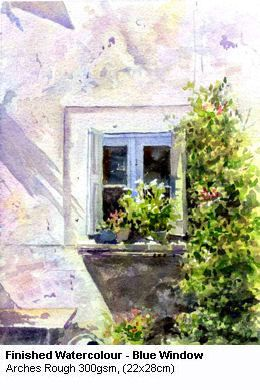 Blue Window Watercolor Lessons Watercolor Architecture
