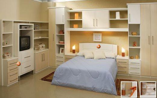 quarto de casal planejado : ... quarto de casal pequeno - Pesquisa Google qurto de casal planejado